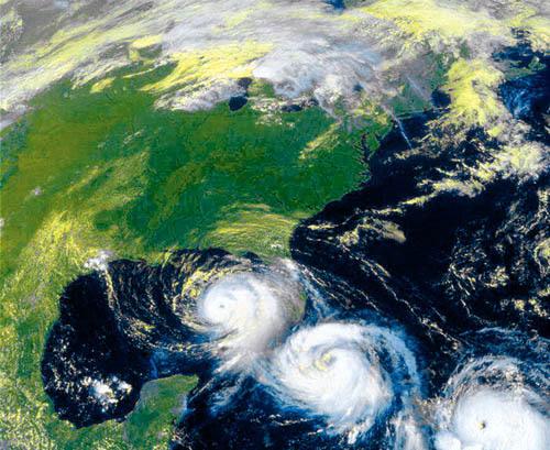 Завихрения ветра, показанные на карте